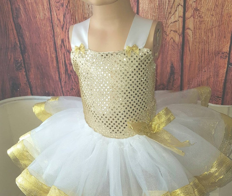7f7197811 White and Gold Tutu Sets Tutus for Babies Skirts 1st | Etsy