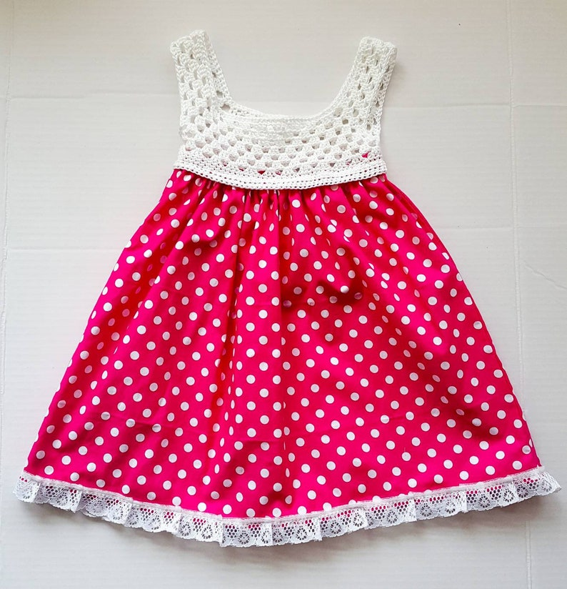 7f2f0de64ee Minnie Mouse Dress Pink and White Polka dot DressBaby Girl