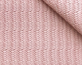 Crafts Purses Summer Pink Cowhide Leather for DIY Earrings HOT PINK Weave Knot Embossed Genuine Leather 12x12 sheet Projects Supplier