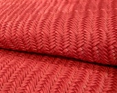New RED Braided Genuine Leather 12x12 quot sheet, Wholesale leather Fabric, Leather Sheet for Earrings, Purses, Shoes, Leather Supplier