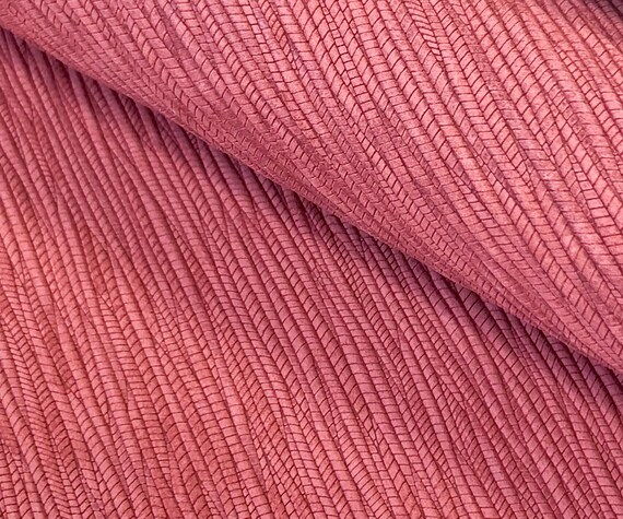 6x8 PLUM PURPLE Palm Leaf Braided Genuine Leather sheet Leather for DIY earring making Cowhide Leather Fabric Pieces Wholesale shoes