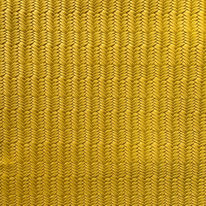 Wholesale leather Fishtail Leather Fabric Purses accessories Leather for Earrings MUSTARD YELLOW Braided Genuine Leather 12x12 sheet
