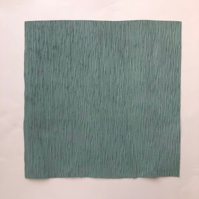 SEAFOAM GREEN Palm Leaf Braided Genuine Leather 12x12 sheet Leather for earring making Cowhide Leather Fabric Pieces Wholesale leather