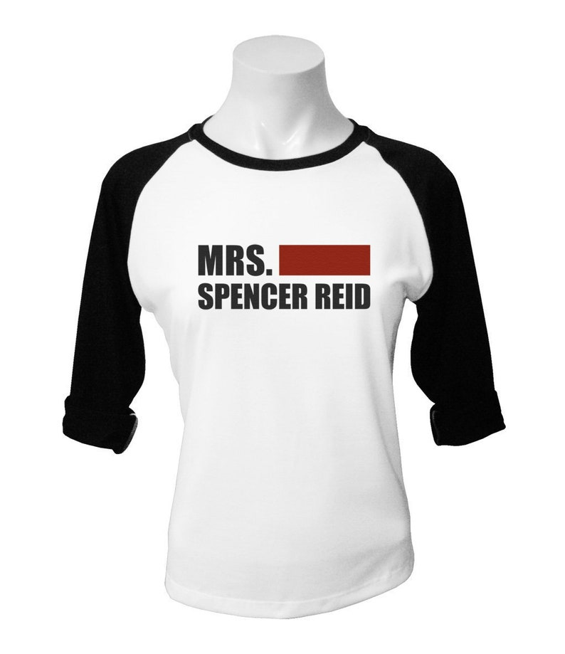 Mrs  Spencer Reid Shirt Criminal Minds Shirt Criminal Mind Tshirt Criminal  Minds TV Show Women Baseball T-Shirt