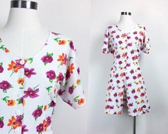 vintage floral rompers women's size S/M