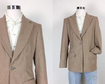 vintage wool blazer alpaca blazer made in USA women's size S/M