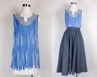 vintage silk tank top/ minimalist silk top/ silk shirt/sleeveless women's size S