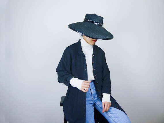 vintage linen dress linen duster minimalist linen