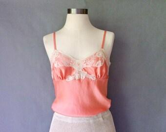 vintage silk lace camisole women's size S/M