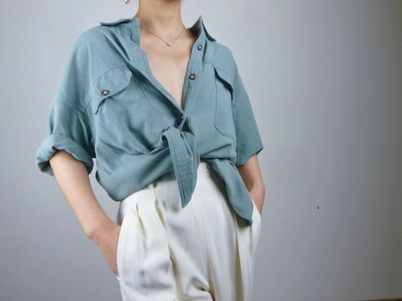 5a0dd1aba940a2 vintage raw silk button down shirt silk blouse silk top unisex