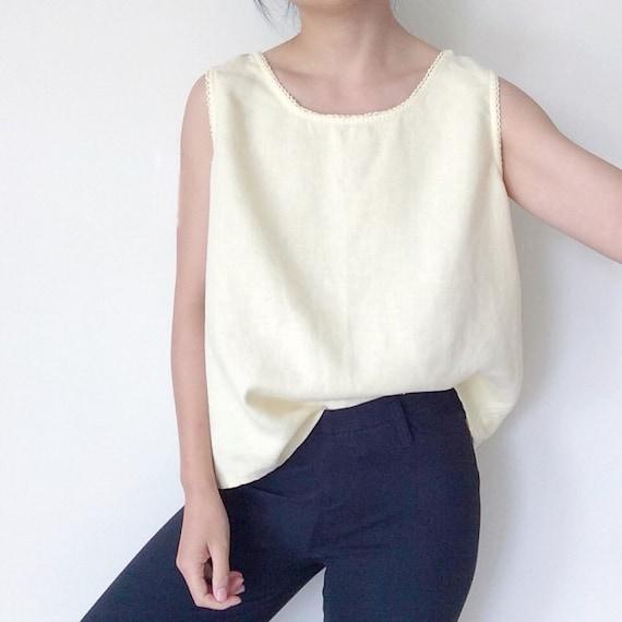 59507b4fd79f vintage linen tank top linen blouse sleeveless linen shirt