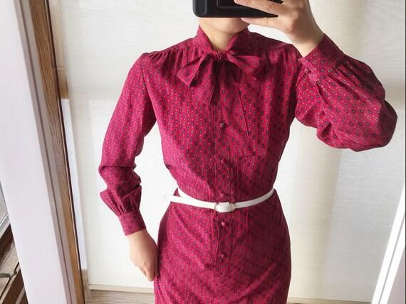 vintage silk dress sun dress silk shirt dress shir