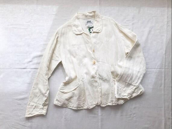 Vintage FLAX by Jeanne Engelhart linen jacket line