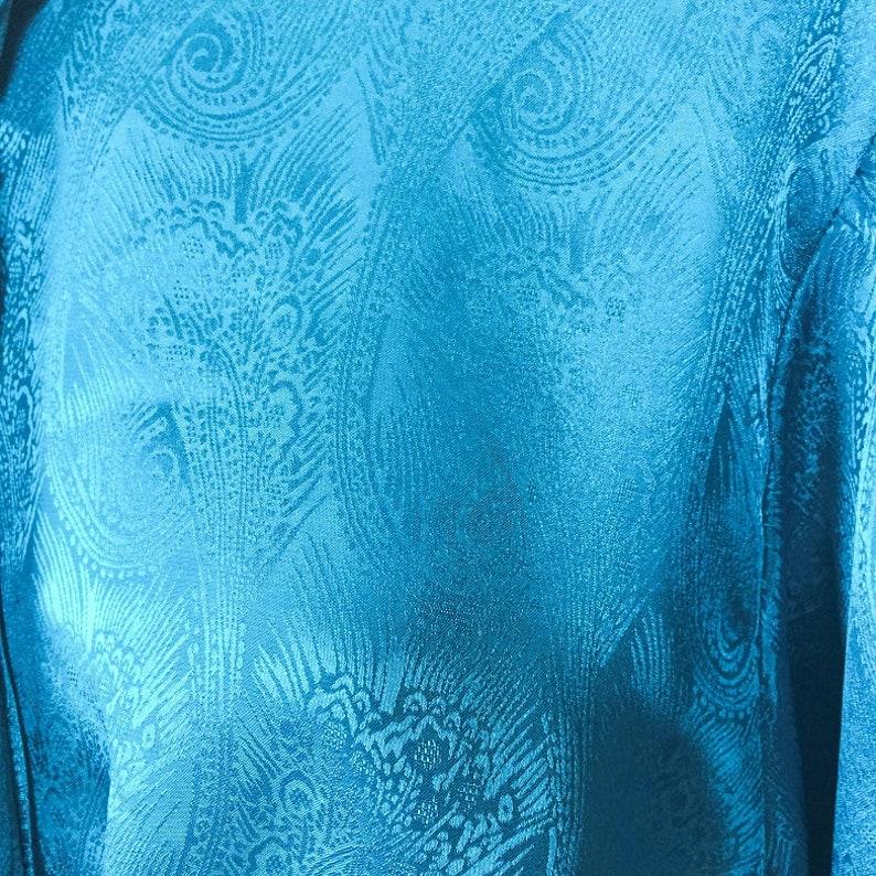 vintage silky blouse minimalist silky top silky shirt 80s silky top secretary blouse women/'s size M