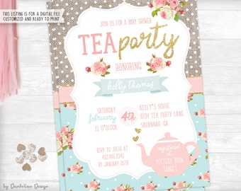 Baby Shower Tea Party Invitation Printable