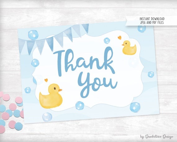 image regarding Rubber Duck Printable identified as Rubber Duck Thank By yourself Card Printable Instantaneous Down load
