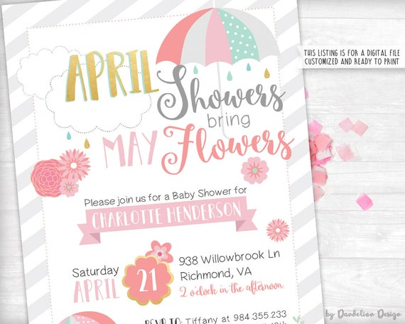 April showers bring may flowers baby shower invitation etsy image 0 filmwisefo