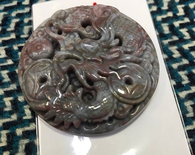 Natural dragon Jade Pendant