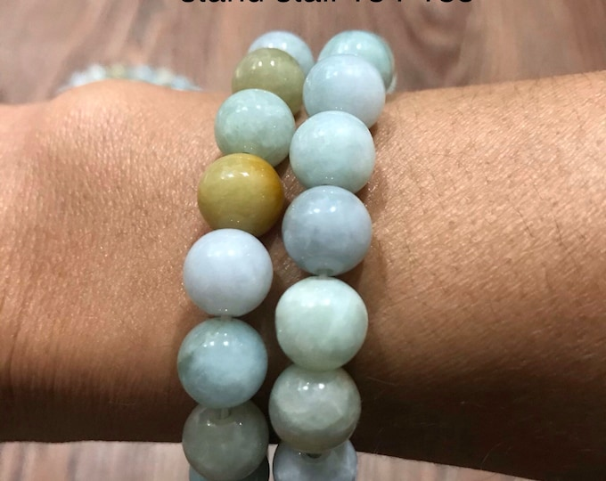 Natural Jade Bracelet 100%vintage not treated
