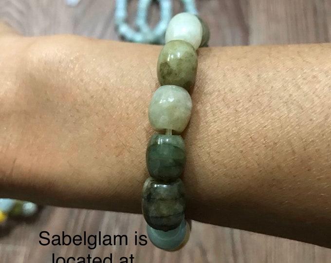 Natural multi colour Jade 100% vintage