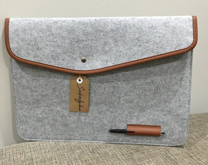 Wool felt sleeve case envelope