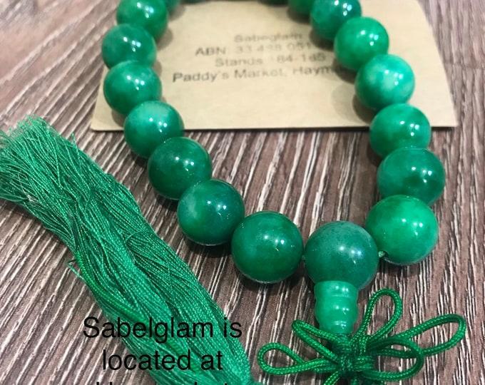 Natural Jade prayer 100% vintage