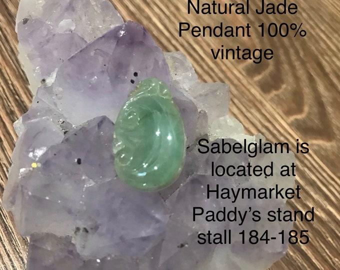 Natural Icy Jade Pendant 100%Vintage