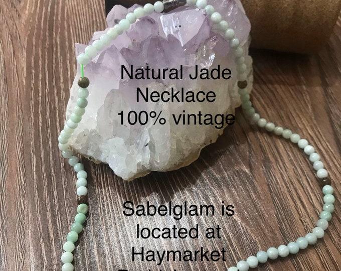 Natural Jade Necklace 5mm