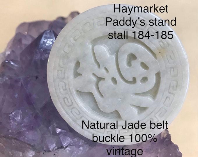 Natural Jade Belt buckle 100% untreated