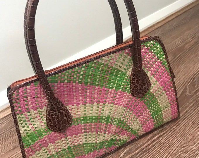 Native Handbag (handvoven Mat) Made in Philippines