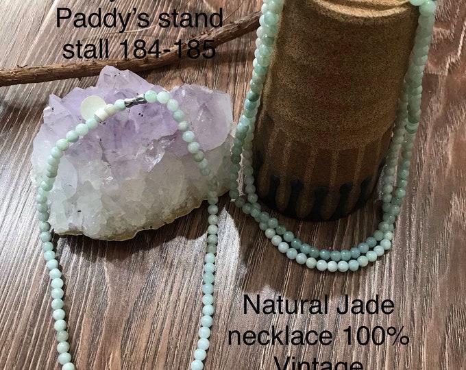 Natural Jade Necklace 100% vintage