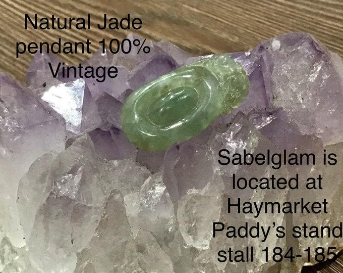 Natural Jade Peaceful Badge Imperial Pendant