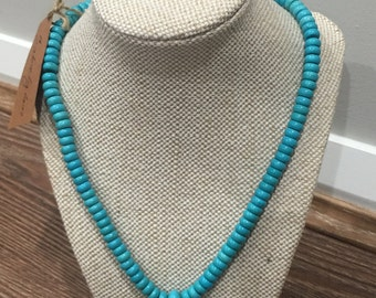 Turquoise Necklace Turtle rondelle