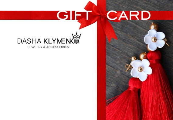 Gift Card 25 50 100 150 For Her Certificate