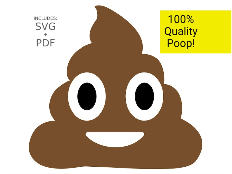 Royalty Free Poop Emoji SVG, Emoji Poop, Poo Emoji Clipart Files, Turd Cut  File Cricut + Commercial Usage License for Royalty Free Use