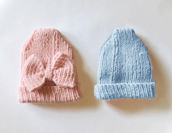 Knitting Pattern Hello World Hospital Hat Preemie Hat Etsy