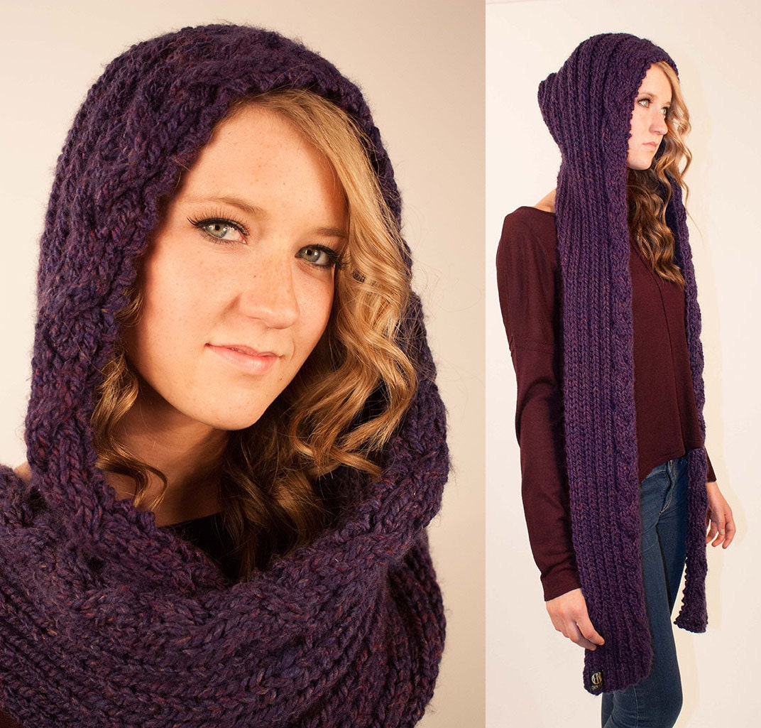 Contemporary Hooded Scarf Knitting Patterns Model - Blanket Knitting ...