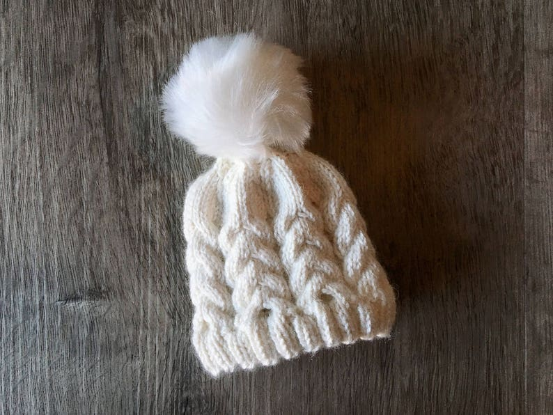 a9783e3b5f7 KNITTING PATTERN Alpine Cabled Baby Hat Preemie Hat