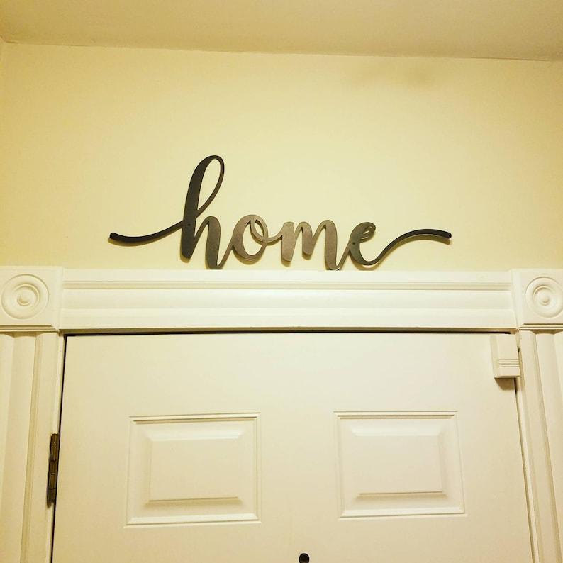 Home metal wall mounted word