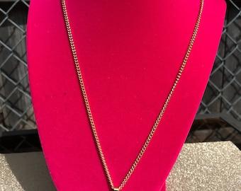 Gold genuine Swarovski heart gold necklace