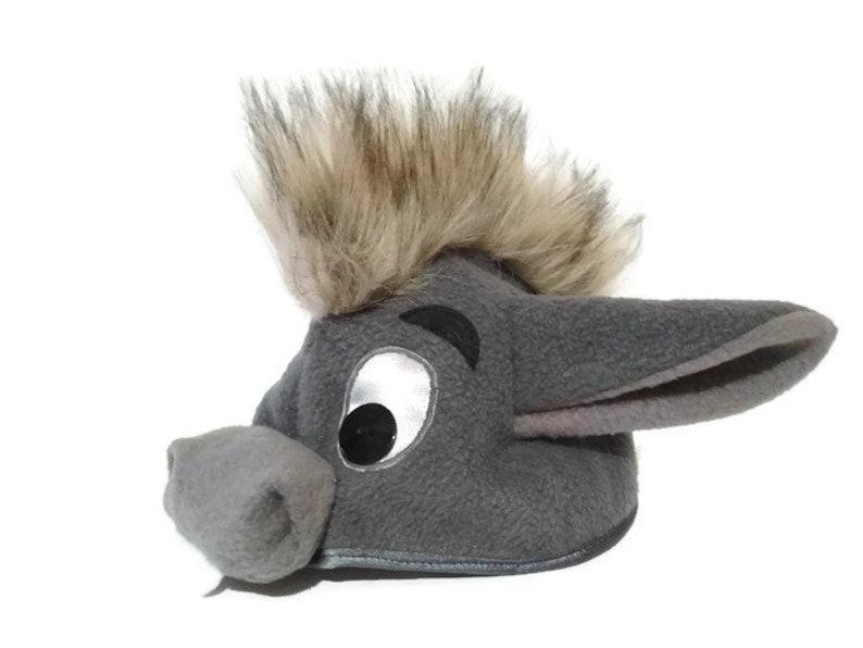 Donkey Hat Costume Grey Winnie the Pooh Eeyore Small One\u00a0Shrek Benjamin Christmas Birthday Party Gift Halloween Children Adult Toddler Size