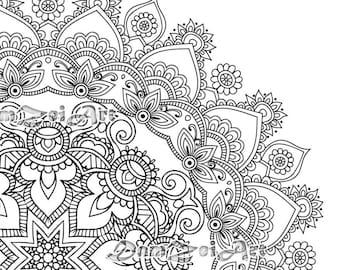 Items Similar To Sugar Skull Coloring Pages 21 Printable Pdf Blank