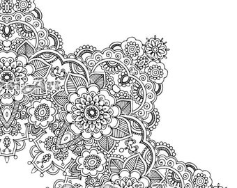 Flower Mandala Coloring Book 30 Pages