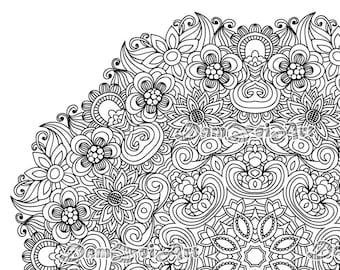 Flower Mandala Coloring Page Printable Pdf Blank Mandala