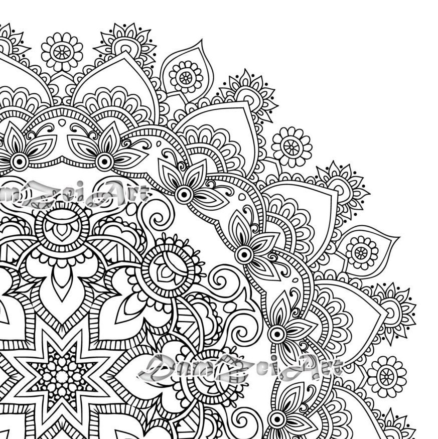 Mandala Coloring Pages - Printable Pdf - Blank Mandala Designs to Print and  Color, Adult Coloring, Coloring sheet,