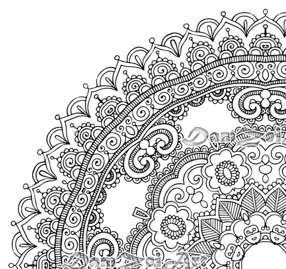 Flower Mandala Coloring Page - Printable Pdf - Blank Mandala Designs to  Print and Color, Adult Coloring, Coloring sheet,