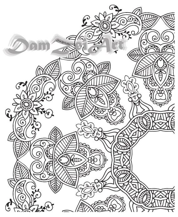 Mandala Coloring Pages - Printable Pdf - Blank Mandala Designs to Print and  Color, Adult Coloring, Coloring sheet,