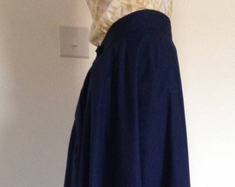 Late Victorian style (1890s) ladies Skirt, full length, navy/royal blue, sizes 4-30