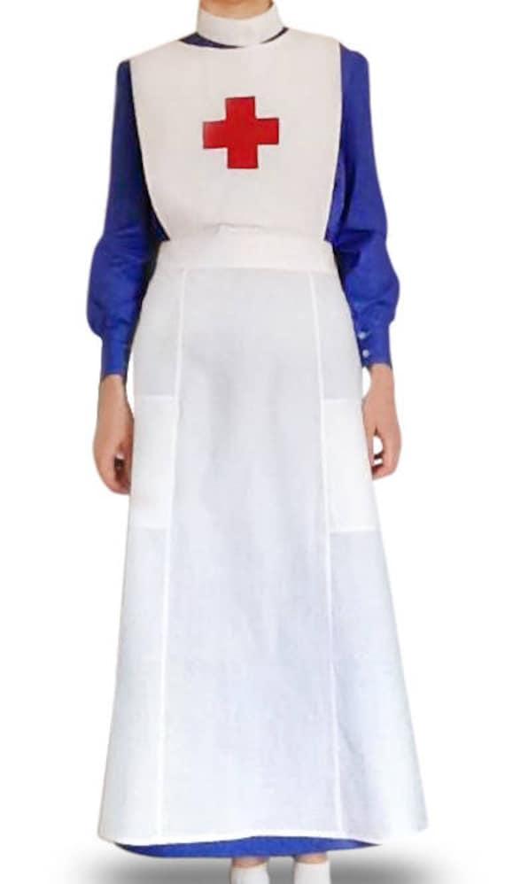 VICTORIAN//HISTORICAL//1940/'S//WARTIME Grey Nurses Uniform /& apron sizes 10 PLUS