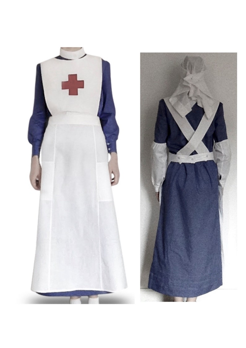 61b7c76a79128 VAD Red Cross Nurse Uniform Style WW1 WWI Historical Costume | Etsy